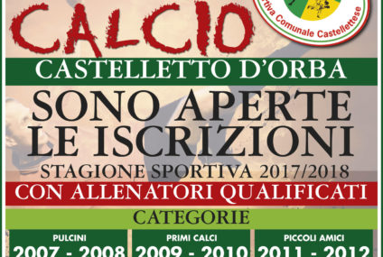 Iscrizioni Scuola di CALCIO a Castelletto d'Orba – Anno 2017/2018