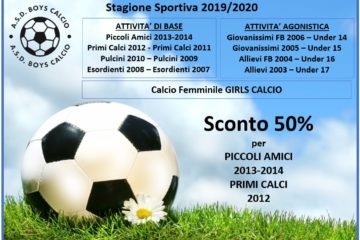 Iscrizioni Stagione Sportiva 2019/2020